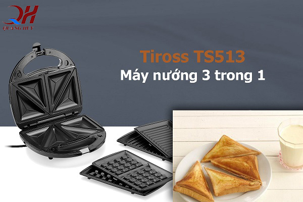 Máy ép bánh mì Tiross 3 chức năng trong 1