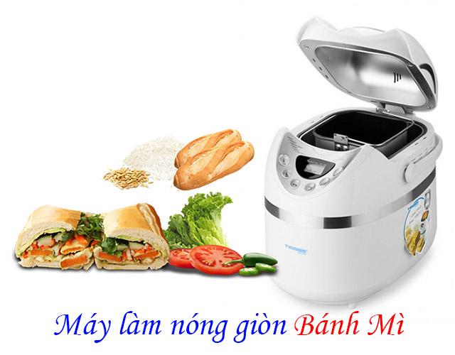 Máy làm nóng giòn bánh mì : máy ép bánh mì, lò vi sóng giúp bạn làm nóng bánh mì siêu tốc