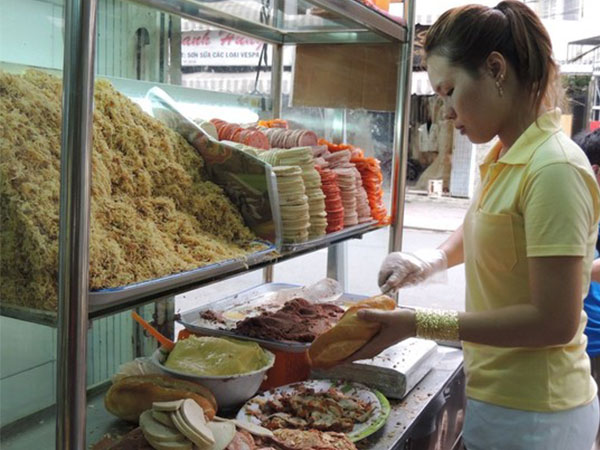 Quán bán bánh mì Sài Gòn