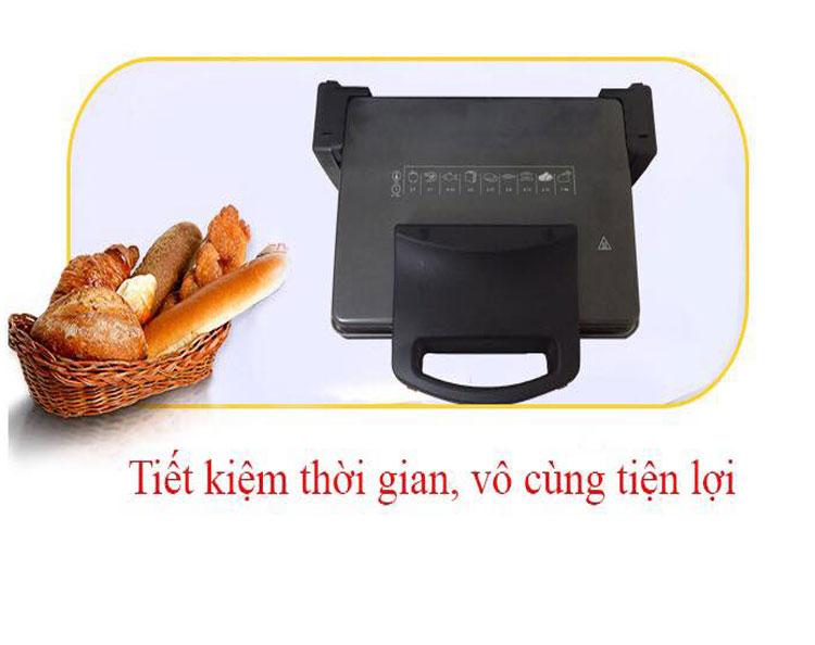 Sử dụng máy kẹp bánh mì tiết kiệm thời gian