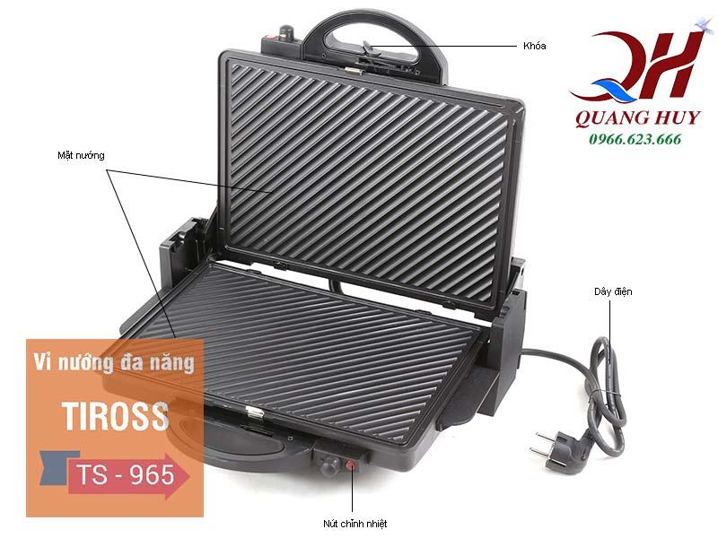 Máy kẹp bánh mì tam giác Tiross 965 Quang Huy