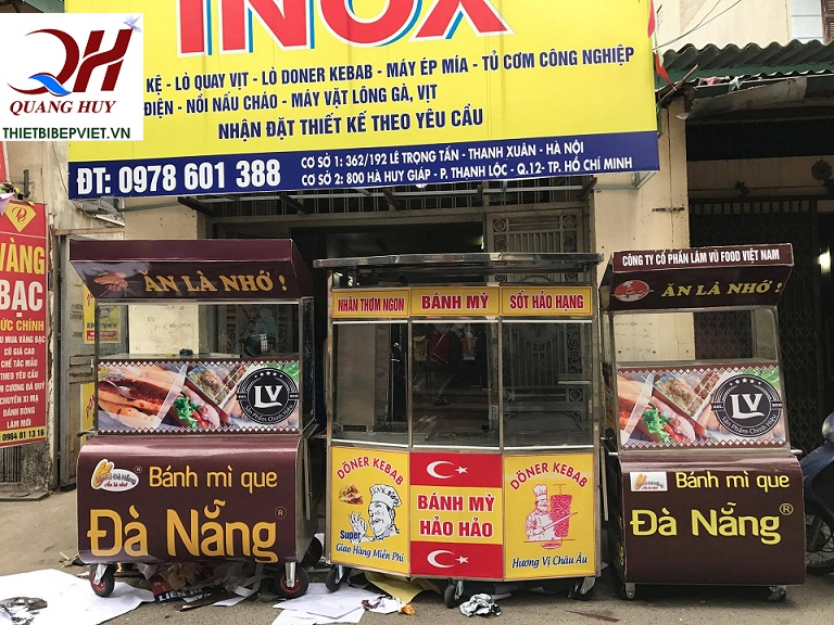 Xe bánh mì que Quang Huy- sự hỗ trợ đắc lực cho công việc kinh doanh của bạn