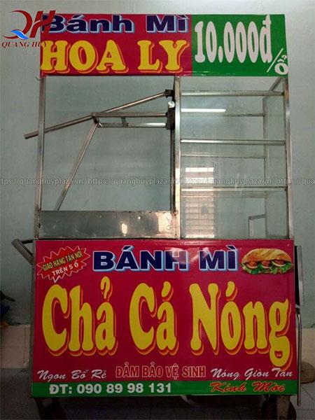 Xe bán bánh mì chả cá Quang Huy đẹp