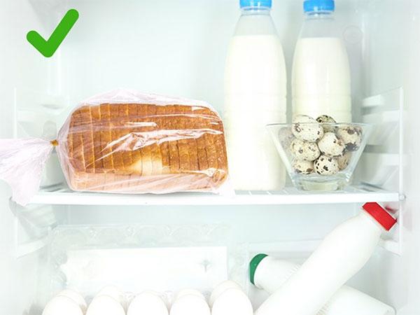 Bảo quản bánh mì trong tủ lạnh