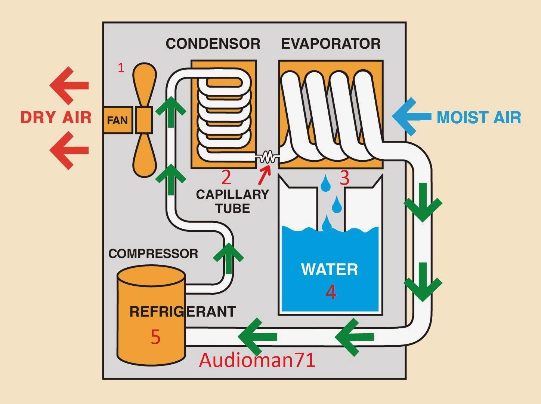 Nguyên lý hoạt động máy hút ẩm lọc không khí