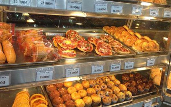 Tủ trưng bày bán bánh mì