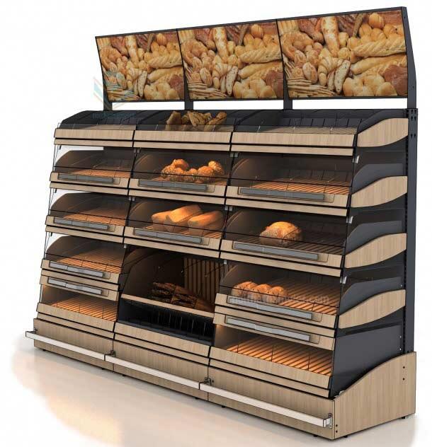 Thiết kế tủ trưng bày bánh mì được ưa chuộng nhất năm 2019
