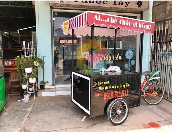 xe đạp bán đồ ăn vặt