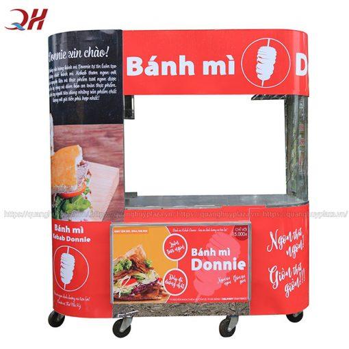 Xe bánh mì Tokki kính cong Quang Huy