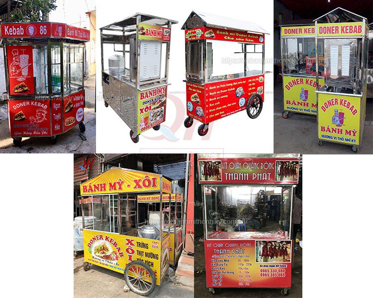 Mẫu xe bánh mì đẹp giá rẻ tại Quang Huy