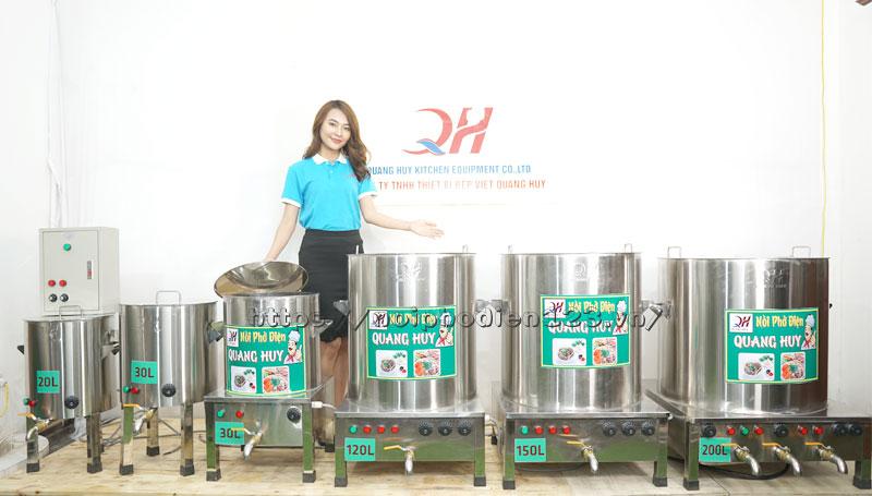 Tổng hợp nồi nấu phở điện sản xuất tại xưởng Quang Huy