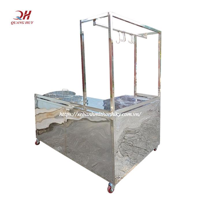 Xe bán hủ tiếu inox Quang Huy