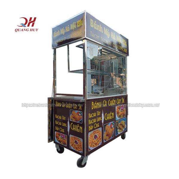 Xe bán khoai lang lắc Quang Huy