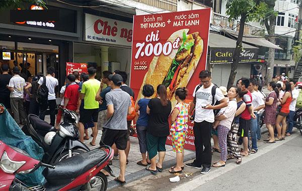 Cửa hàng bán bánh mì thịt ngon