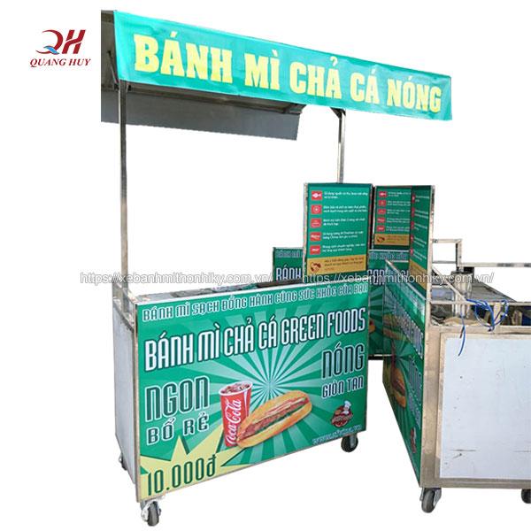 Mẫu xe bánh mì chả cá Quang Huy