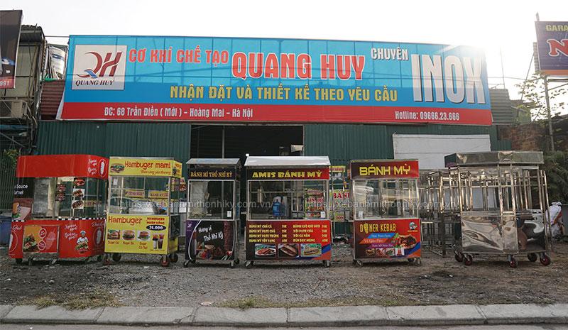 Mẫu xe đẩy bánh mì doner kebab tại Quang Huy