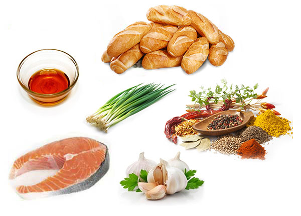 Nguyên liệu làm bánh mì chả cá Quang Huy