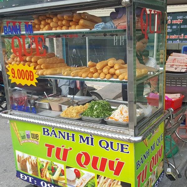 Xe bán bánh mì que tại tp Hồ Chí Minh