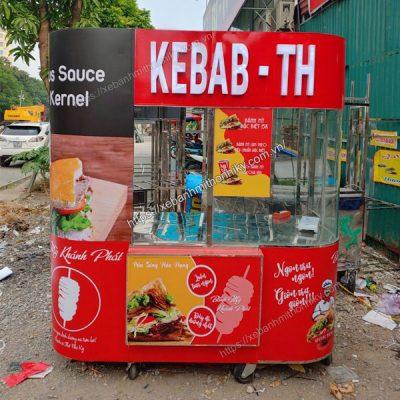 Xe đẩy bánh mì Kebab Torki Quang Huy giá bán ưu đãi