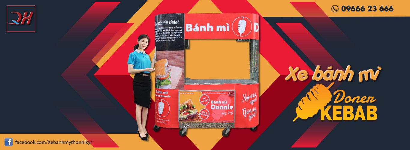 Banner Xe bánh mì inox Quang Huy