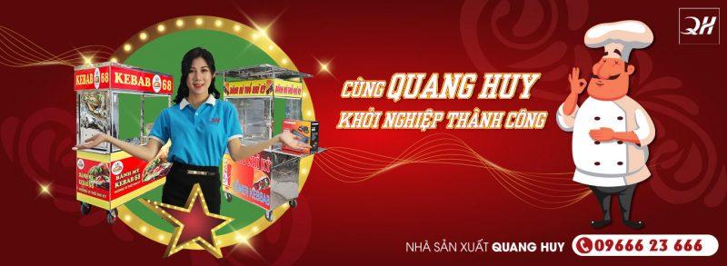Banner xe đẩy bán bánh mì Quang Huy