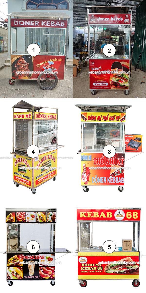 Hình ảnh xe bánh mì do Quang Huy sản xuất