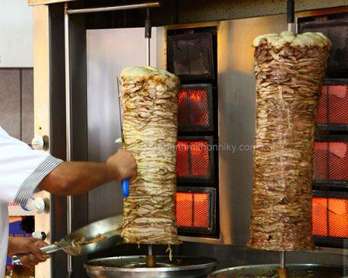 Lò nướng thịt doner kebab thổ nhĩ kỳ