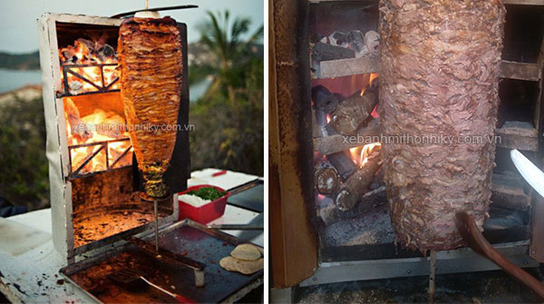 Lò nướng thịt Doner Kebab than củi