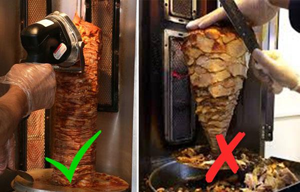 Máy cắt thịt doner kebab cầm tay