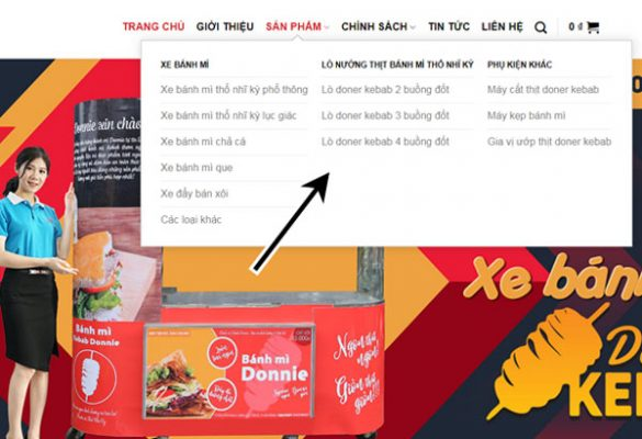 Tìm kiếm sản phẩm theo danh mục tại website Quang Huy