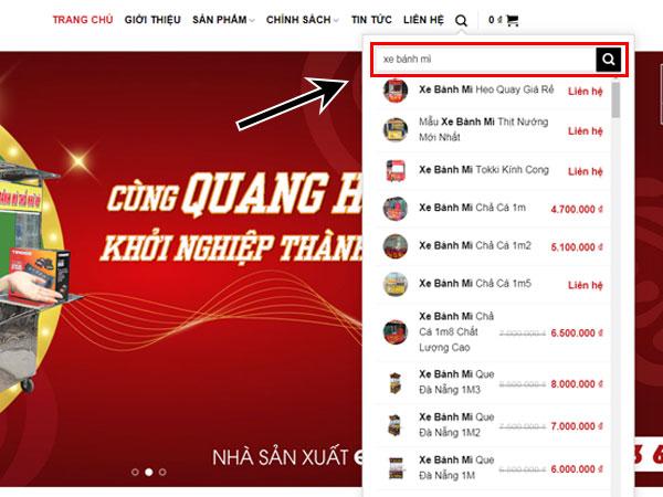 Tìm kiếm thông tin về xe bánh mì Quang Huy