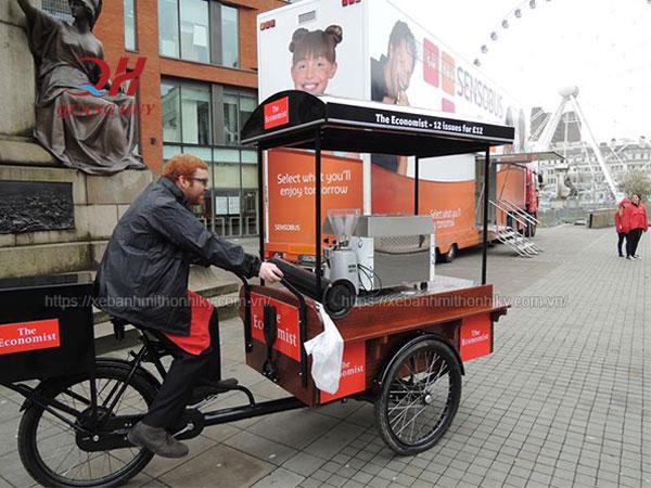Bán hàng lưu động hơn nhờ xe đạp Quang Huy