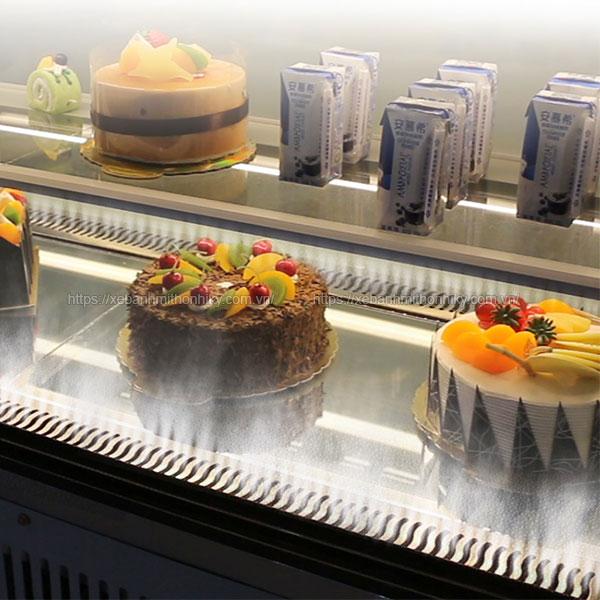 Chế độ phun ẩm tủ trưng bày bánh kem