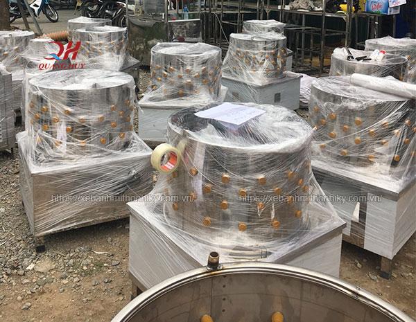 Máy vặt lông gà vịt gia công Quang Huy