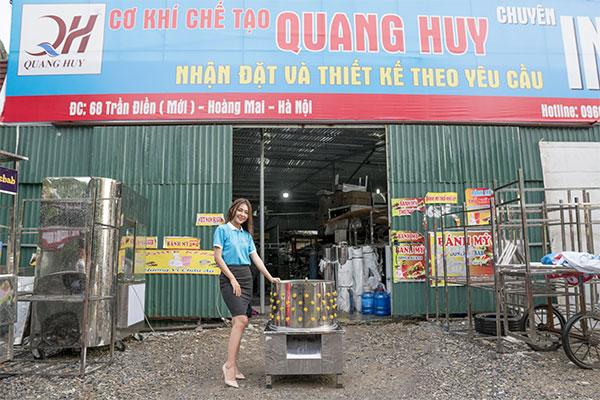 Máy vặt lông gà vịt Quang Huy gia công