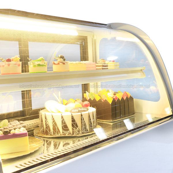 Tủ trưng bày bánh kem mini để bàn
