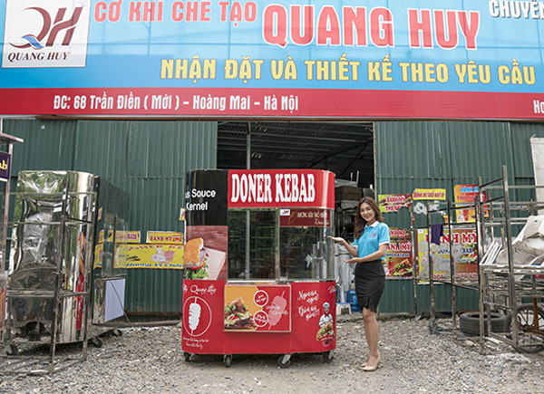 Xe bánh mì Thổ Nhĩ Kỳ Kebab Torki Quang Huy