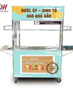 Xe đẩy bán nước ép sinh tố Quang Huy
