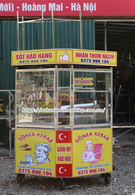 Quang Huy xe bánh mì Kebab lục giác