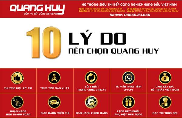 10 Lý do nên chọn mua thiết bị bếp của Quang Huy