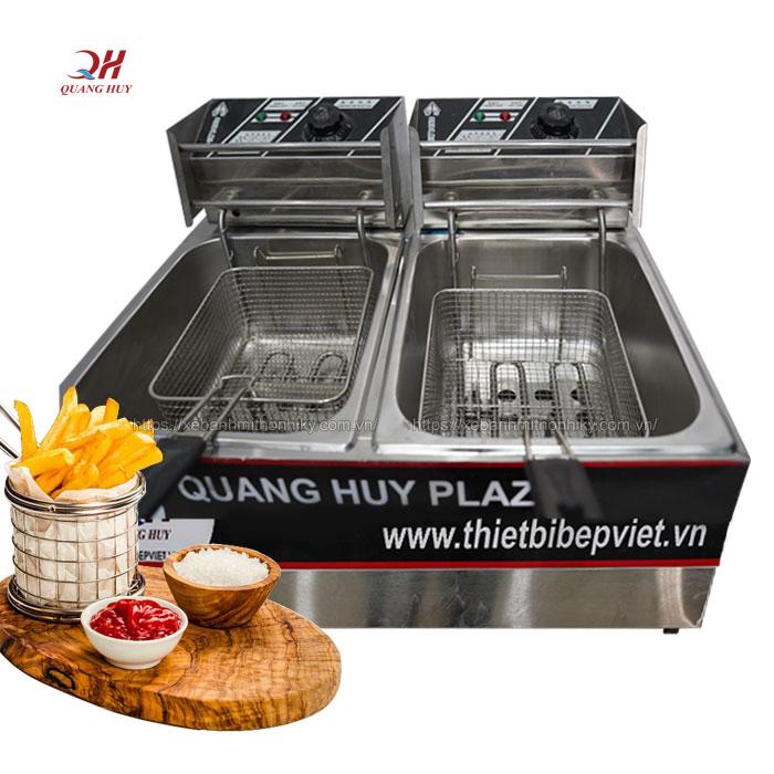 Bếp chiên nhúng đôi 2 ngăn 12 lit Quang Huy