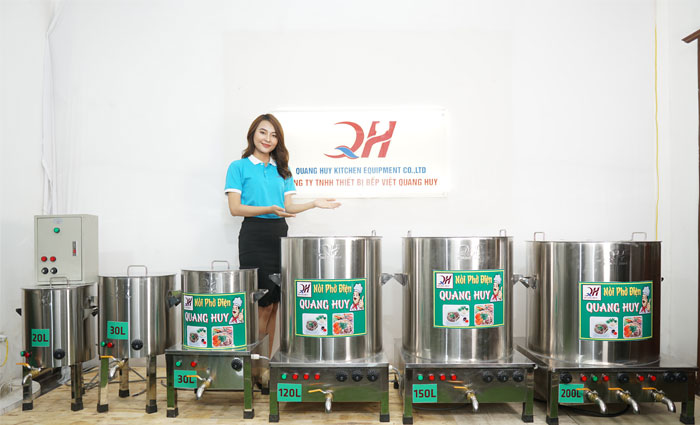 Các mẫu nồi điện nấu phở Quang Huy giá rẻ