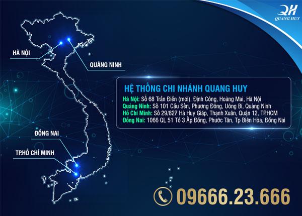 Hệ thống chi nhánh của Quang Huy