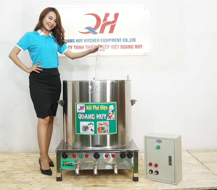Nồi phở 3 ngăn bằng điện Quang Huy