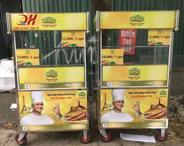 Xe bánh mì que BMQ Quang Huy giá rẻ