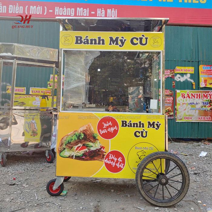 Xe bán bánh mì Quang Huy giá rẻ