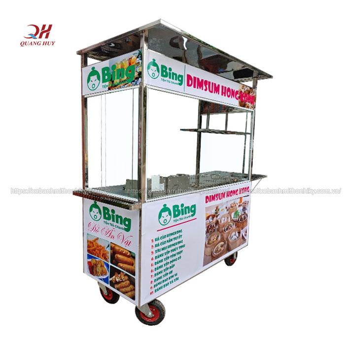 Xe đẩy bán bánh bao há cảo Quang Huy
