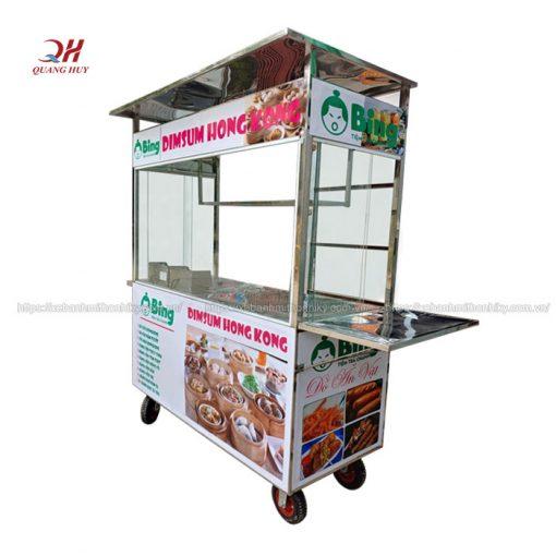 Xe inox bán bánh bao há cảo Quang Huy
