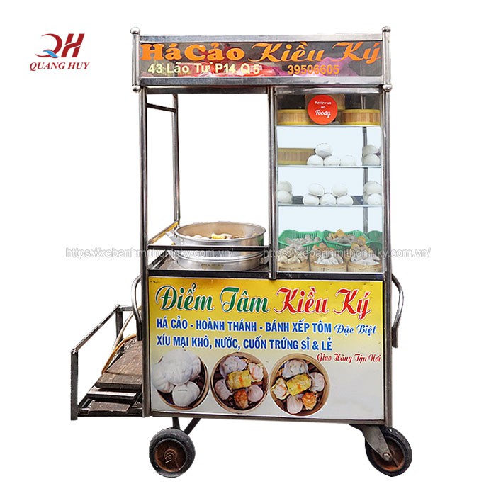 Xưởng sản xuất xe bánh bao giá rẻ tại cơ khí Quang Huy