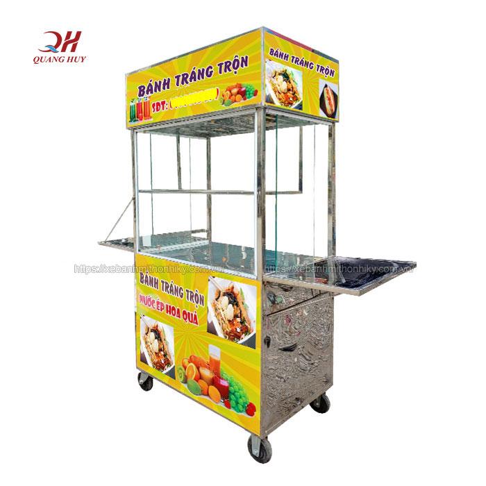 Quang Huy phân phối xe đẩy bán bánh tráng trộn giá rẻ